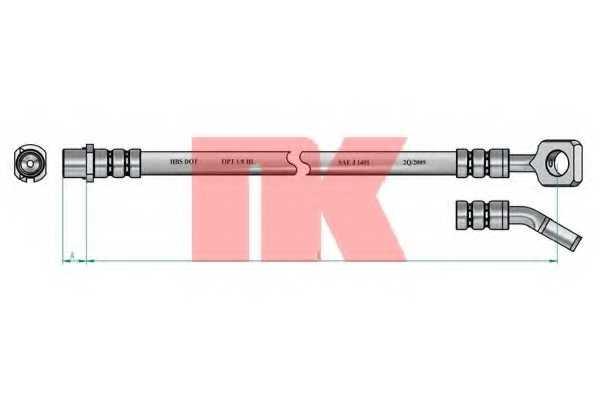 Тормозной шланг NK 853673 - изображение 1