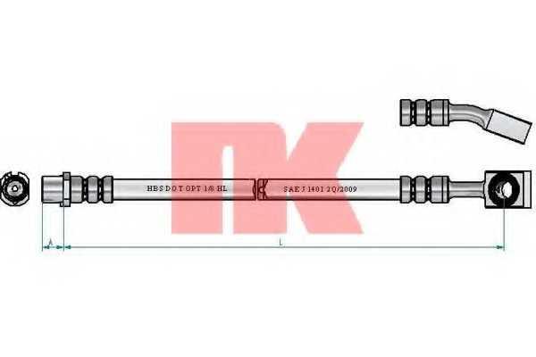 Тормозной шланг NK 853679 - изображение