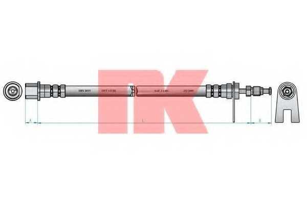 Тормозной шланг NK 853731 - изображение