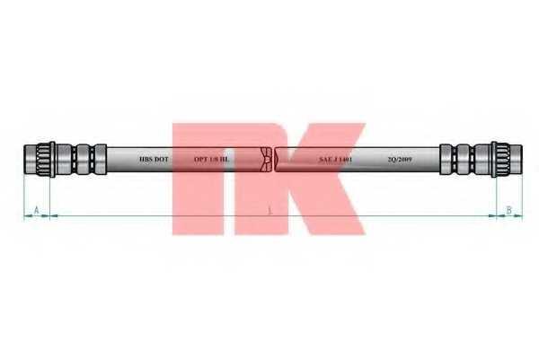 Тормозной шланг NK 853741 - изображение