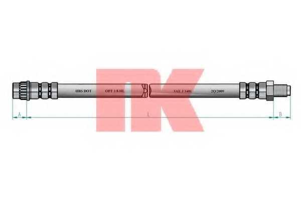 Тормозной шланг NK 853744 - изображение