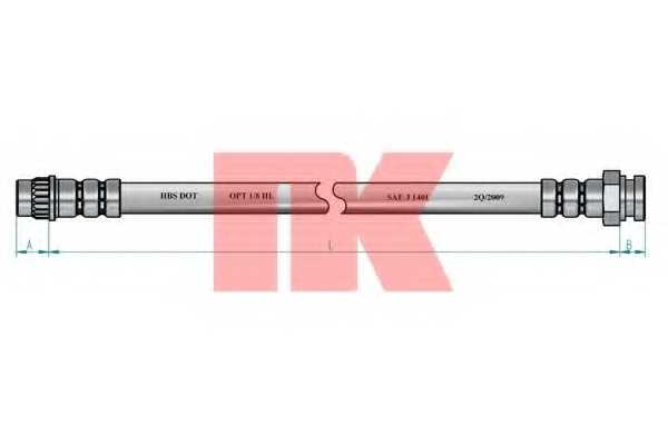Тормозной шланг NK 853745 - изображение