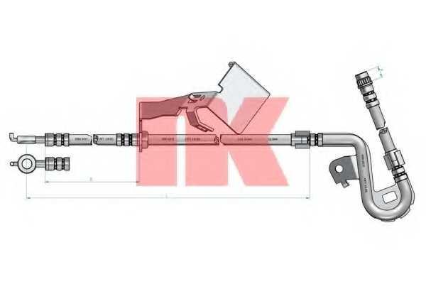 Тормозной шланг NK 853749 - изображение