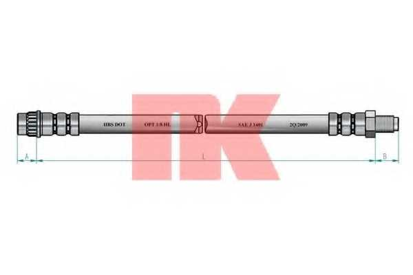 Тормозной шланг NK 853754 - изображение