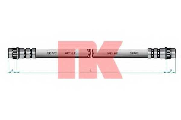 Тормозной шланг NK 853949 - изображение