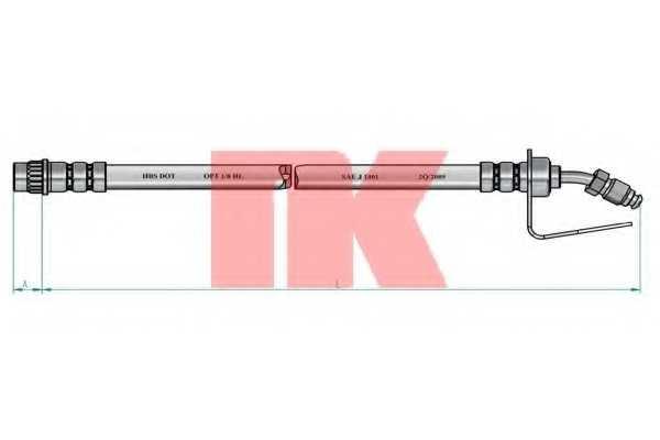 Тормозной шланг NK 853951 - изображение