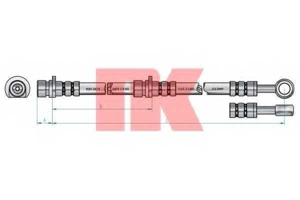 Тормозной шланг NK 854013 - изображение 1