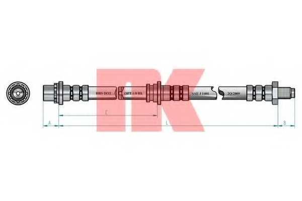 Тормозной шланг NK 854020 - изображение