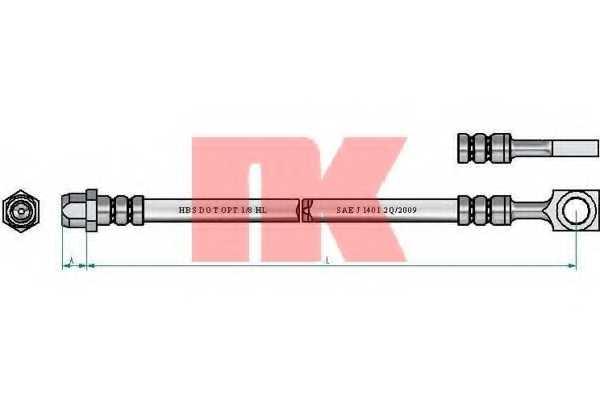 Тормозной шланг NK 854024 - изображение