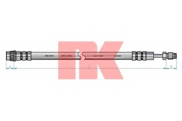 Тормозной шланг NK 854114 - изображение 1