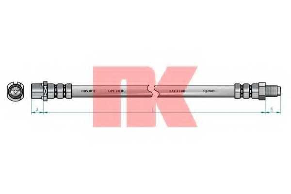 Тормозной шланг NK 854120 - изображение