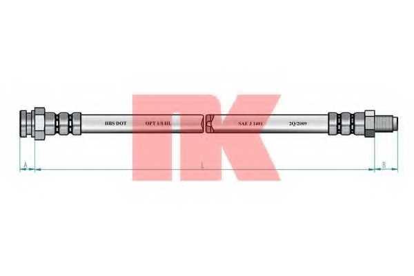 Тормозной шланг NK 854303 - изображение