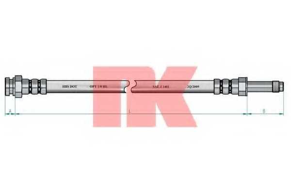 Тормозной шланг NK 854309 - изображение