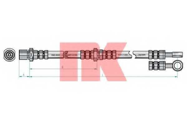 Тормозной шланг NK 854402 - изображение