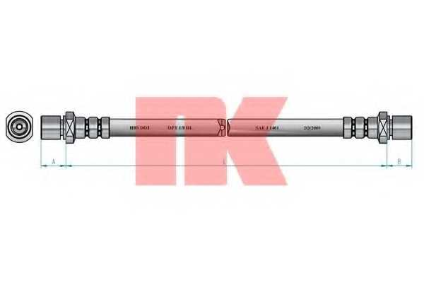 Тормозной шланг NK 854403 - изображение 1