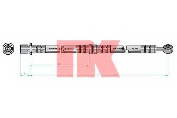 Тормозной шланг NK 854408 - изображение