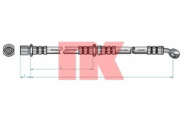 Тормозной шланг NK 854409 - изображение 1