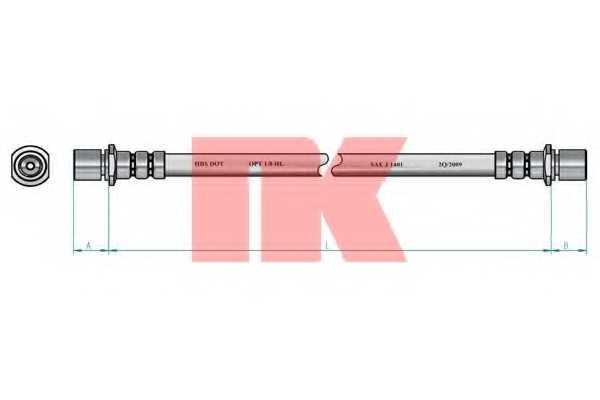 Тормозной шланг NK 854411 - изображение 1