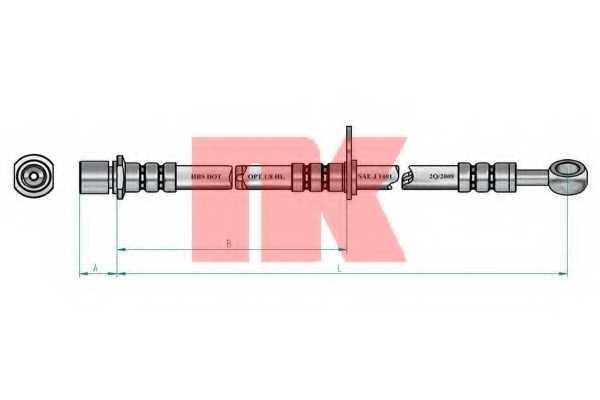 Тормозной шланг NK 854414 - изображение