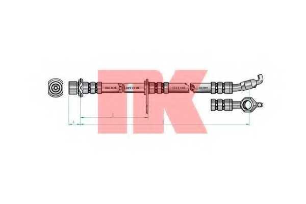 Тормозной шланг NK 8545112 - изображение 1