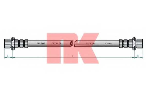 Тормозной шланг NK 8545117 - изображение 1