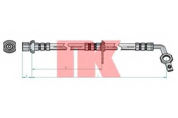 Тормозной шланг NK 8545130 - изображение