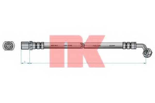 Тормозной шланг NK 8545134 - изображение