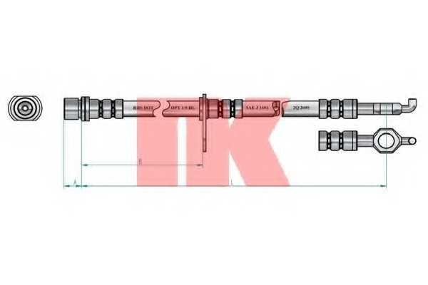 Тормозной шланг NK 8545148 - изображение 1