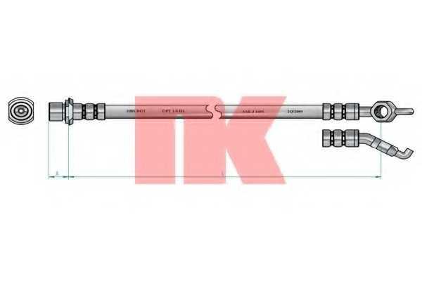 Тормозной шланг NK 8545150 - изображение 1