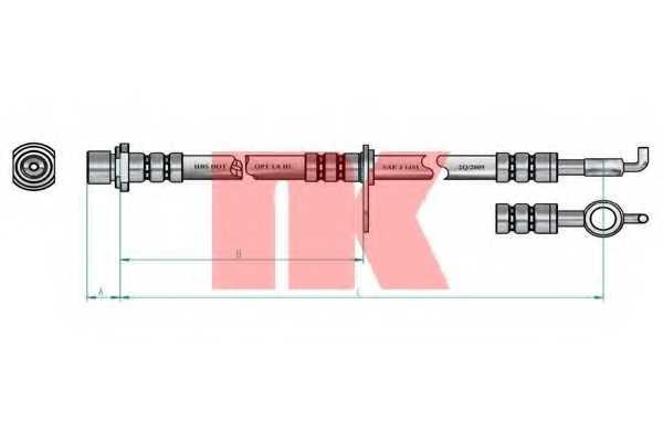Тормозной шланг NK 8545151 - изображение