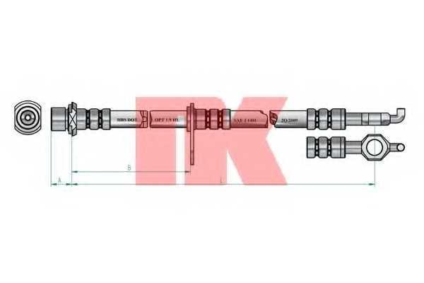 Тормозной шланг NK 8545162 - изображение