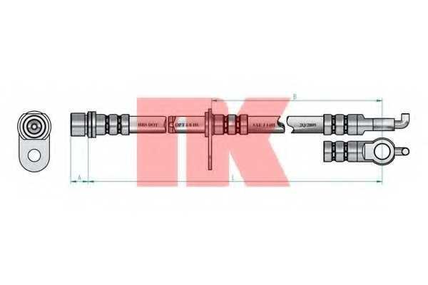 Тормозной шланг NK 8545163 - изображение