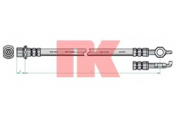 Тормозной шланг NK 8545167 - изображение