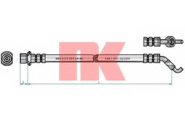 Тормозной шланг NK 8545168 - изображение