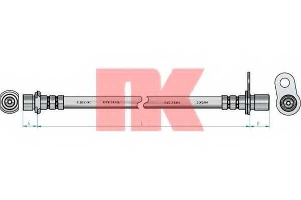Тормозной шланг NK 8545169 - изображение