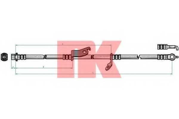 Тормозной шланг NK 8545178 - изображение