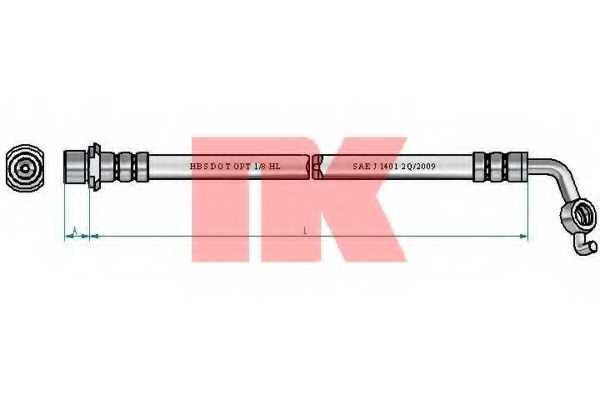 Тормозной шланг NK 8545179 - изображение