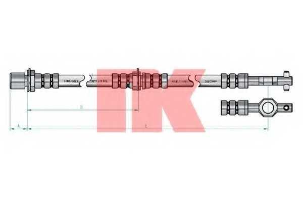 Тормозной шланг NK 854523 - изображение 1