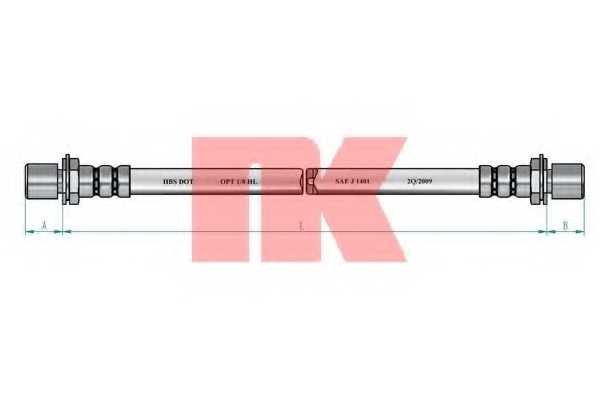 Тормозной шланг NK 854524 - изображение