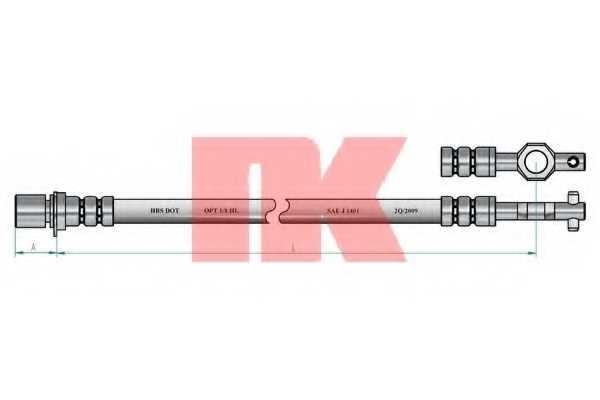 Тормозной шланг NK 854548 - изображение 1