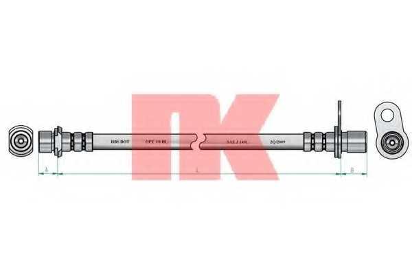 Тормозной шланг NK 854551 - изображение