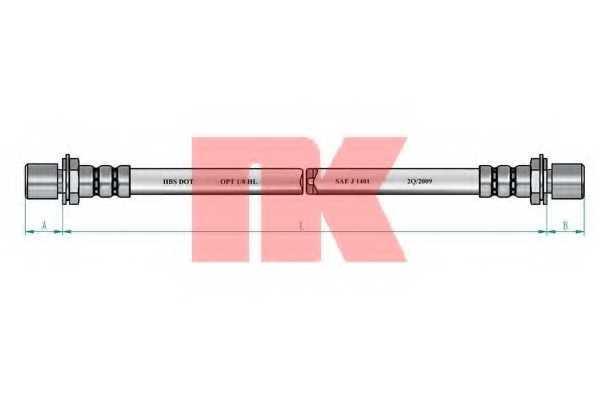 Тормозной шланг NK 854554 - изображение