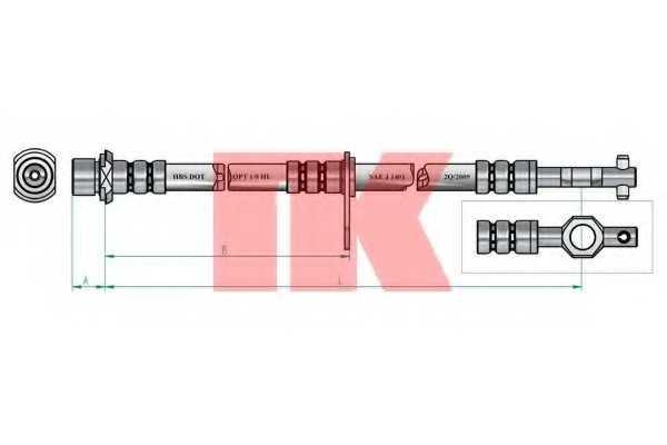 Тормозной шланг NK 854556 - изображение