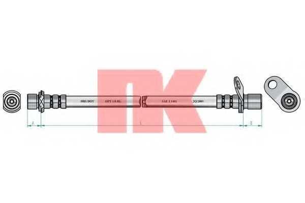 Тормозной шланг NK 854558 - изображение