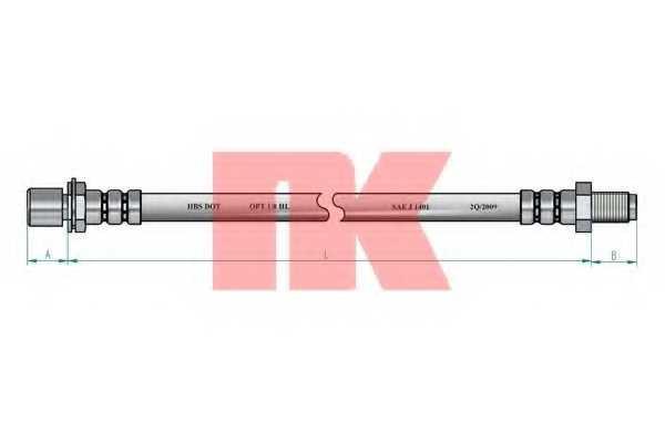 Тормозной шланг NK 854560 - изображение 1