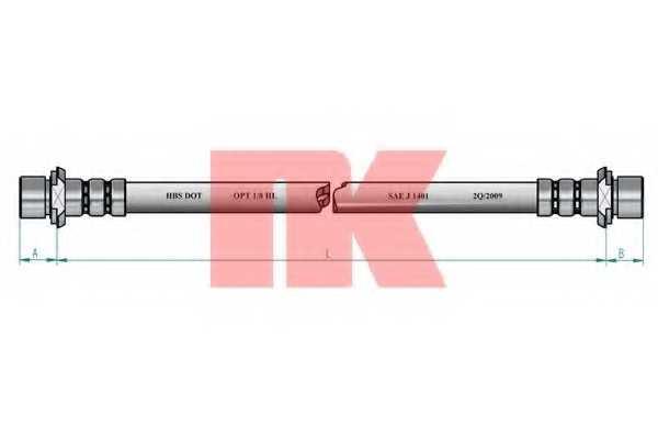 Тормозной шланг NK 854572 - изображение