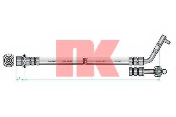 Тормозной шланг NK 854573 - изображение 1