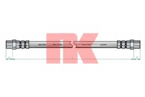 Тормозной шланг NK 854709 - изображение