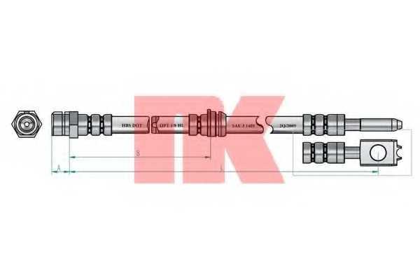 Тормозной шланг NK 8547102 - изображение 1