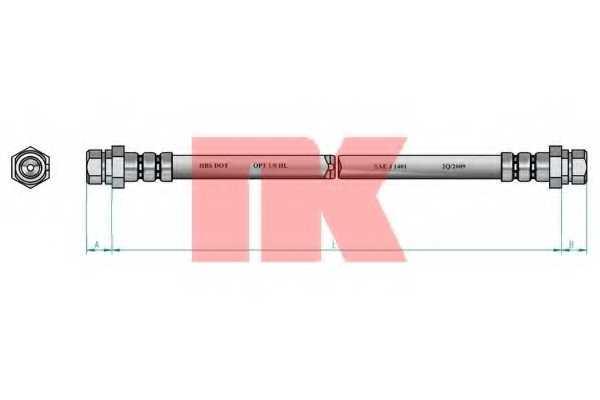 Тормозной шланг NK 8547103 - изображение